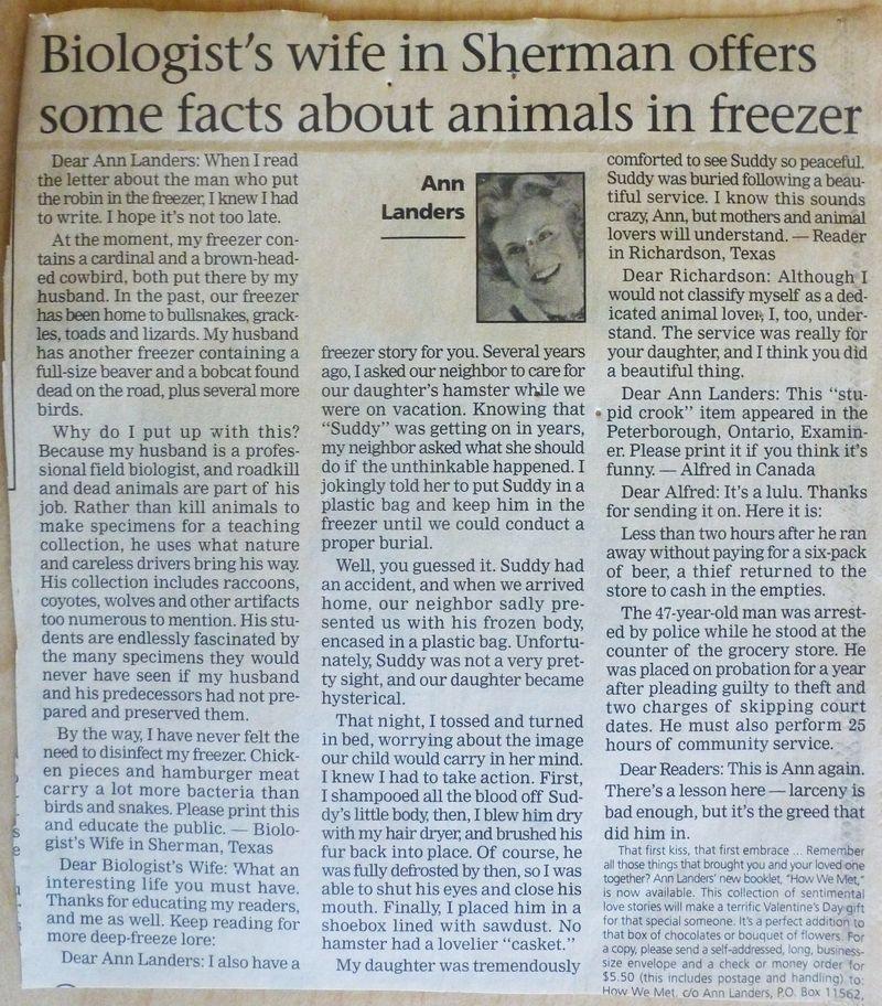Ann Landers 2000