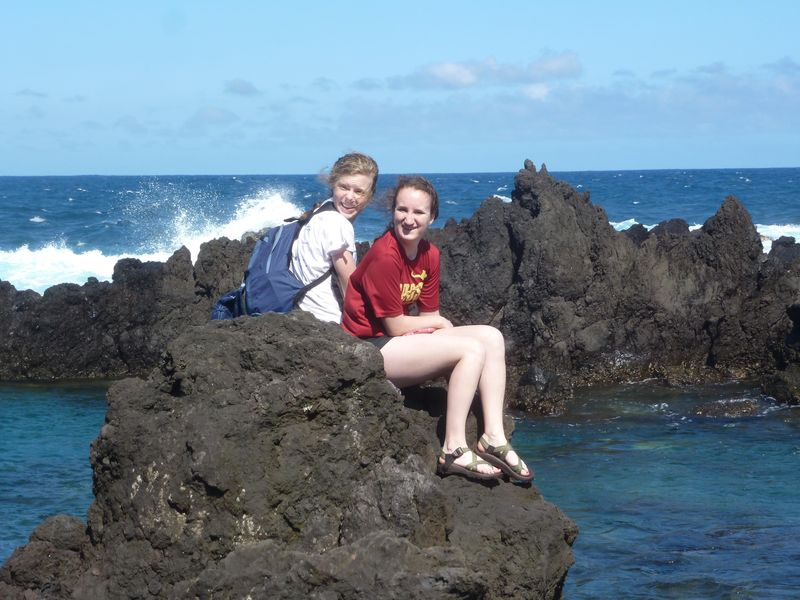 Megan and rachel at laupahoepahoe
